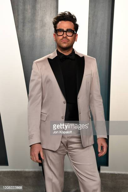 Daniel Levy attends the 2020 Vanity Fair Oscar Party hosted by Radhika Jones at Wallis Annenberg Center for the Performing Arts on February 09 2020...