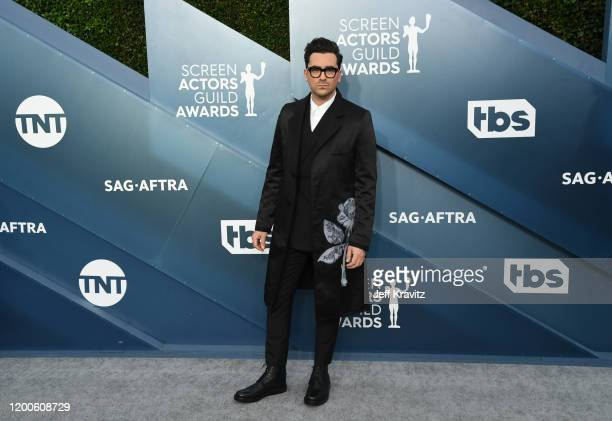 Daniel Levy attends the 26th Annual Screen ActorsGuild Awards at The Shrine Auditorium on January 19 2020 in Los Angeles California