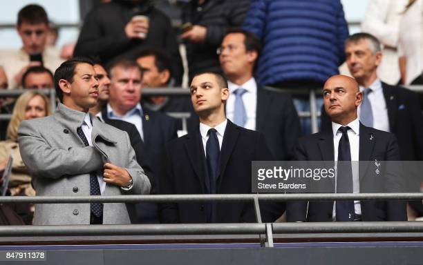 Daniel Levy chairman of Tottenham Hotspur looks on during the Premier League match between Tottenham Hotspur and Swansea City at Wembley Stadium on...
