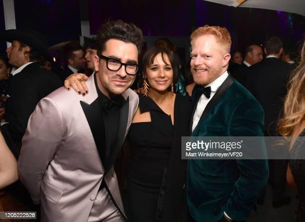Daniel Levy Rashida Jones and Jesse Tyler Ferguson attend the 2020 Vanity Fair Oscar Party hosted by Radhika Jones at Wallis Annenberg Center for the...