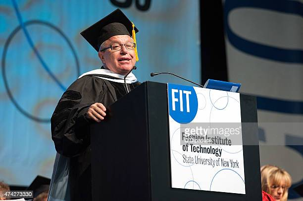Daniel Libeskind speaks onstage during the Fashion Institute of Technology Commencement 2015 at the Jacob K Javits Convention Center on May 21 2015...