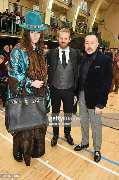 Daniel Lismore Alistair Guy and David Furnish attend the Vivienne Westwood show during London Fashion Week Men's January 2017 collections at Seymour...