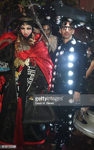 Daniel Lismore and Fedro Gaudenzi attend Halloween at Annabel's at 46 Berkeley Square on October 29 2016 in London England