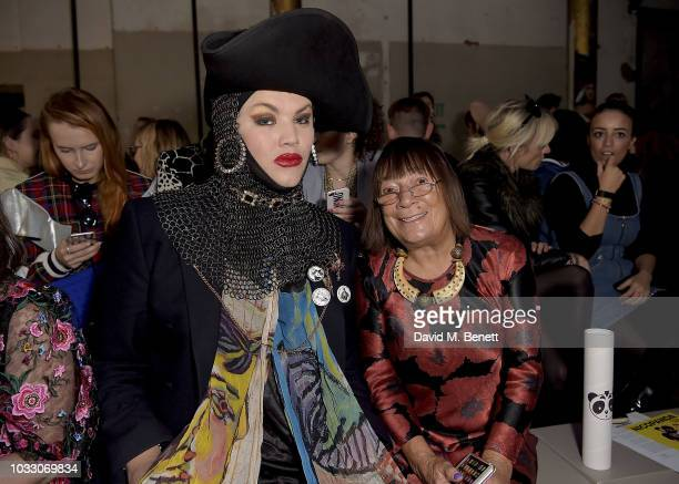 Daniel Lismore and Hilary Alexander attend the Nicopanda SS19 LFW Runway Show on September 14, 2018 in London, England.