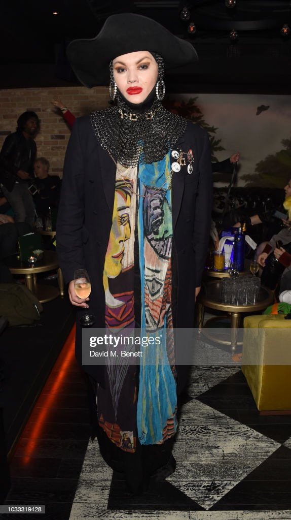Daniel Lismore attends an after party celebrating the Pam Hogg catwalk show during London Fashion Week September 2018 at Kadie's on September 14, 2018 in London, England.