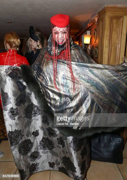 Daniel Lismore attends the Pam Hogg aftershow party during the London Fashion Week February 2017 collections at Bunga Bunga on February 19 2017 in...