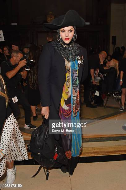 Daniel Lismore attends the Pam Hogg front row during London Fashion Week September 2018 at The Freemason's Hall on September 14 2018 in London England