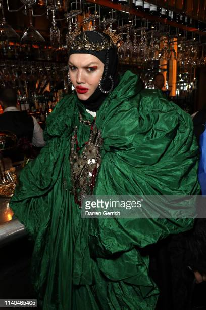 Daniel Lismore attends the Pat McGrath 'A Technicolour Odyssey' Campaign launch party at Brasserie of Light Selfridges on April 04 2019 in London...