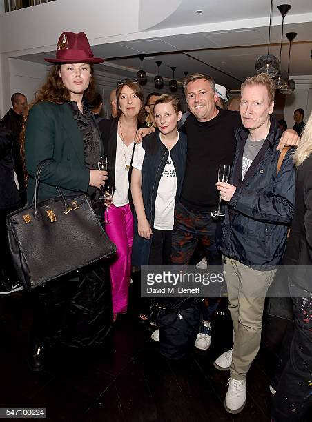 Daniel Lismore guest Lou Dalton Markus Lupfer and guest attends the opening of new restaurant Bronte on The Strand on July 13 2016 in London England