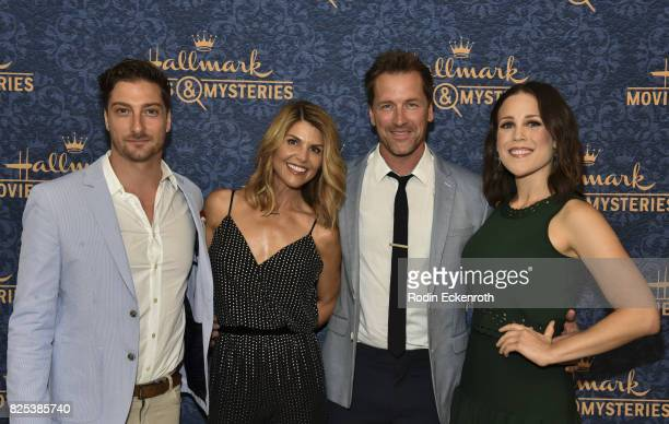 Daniel Lissing Lori Loughlin Paul Greene and Erin Krakow attend the premiere of Hallmark Movies Mysteries' 'Garage Sale Mystery' at The Paley Center...