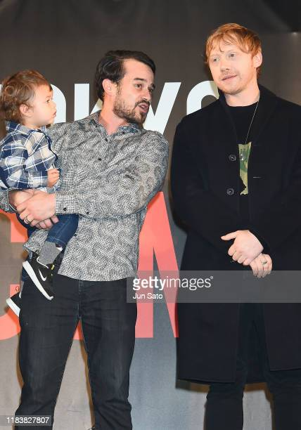 Daniel Logan with his son Kayden Logan and Rupert Grint attend the opening ceremony for the Tokyo Comic Con 2019 at Makuhari Messe on November 22...
