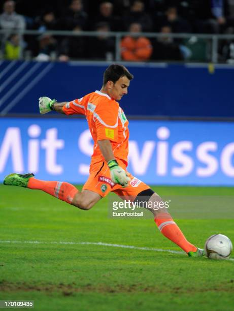 Daniel Lopar of FC St Gallen in action during the Swiss Super League match between FC St Gallen and Grasshopper Club held on May 29 2013 at the AFG...