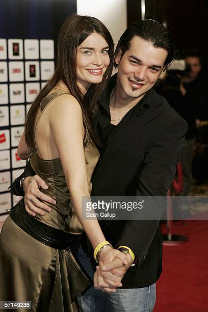 Daniel Lopes and Maja Stollenwerk arrive for the Felix Burda Award 2006 on March 21 2006 at the RitzCarlton in Berlin Germany