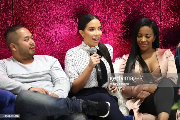 Daniel Lopez Jessica Killings and Jessica Rich attend the 2018 Beauty The Beats Celebrity Party and Panel Discussion at Dream Magic Studios on...