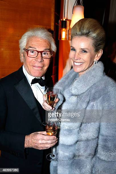 Daniel Lorieux and his companion Laura Restelli attend a dinner after the 40th Cesar Film Awards 2015 at Le Fouquet's on February 20, 2015 in Paris,...