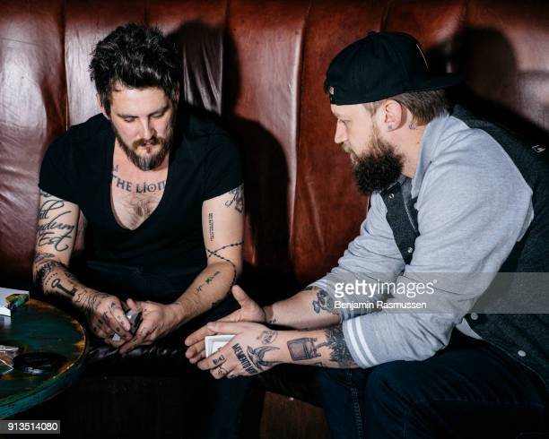 Daniel Madison and Chris Ramsay discuss card magic in a bar in Manchester England on February 18 2016 The most talented and innovative magicians in...