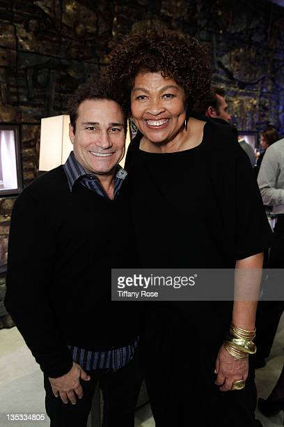 Daniel Madore and Designer Opal Stone attends the Opal Stone Luxury Handbags And Fine Jewelry Launch at Gray Gallery on December 8 2011 in Beverly...