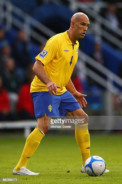Daniel Majstorovic of Sweden during the FIFA2010 World Cup Qualifying Group 1 match between Sweden and Denmark at the Rasunda Stadium on June 6, 2009...
