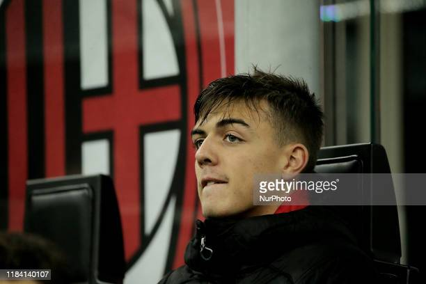 Daniel Maldini of AC Milan before the Serie A match between AC Milan and SSC Napoli at Stadio Giuseppe Meazza on November 23 2019 in Milan Italy