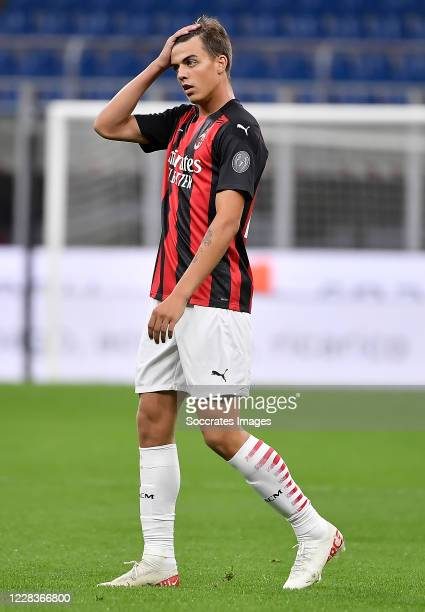 Daniel Maldini of AC Milan during the Club Friendly match between AC Milan v AC Monza at the San Siro on September 5, 2020 in Milan Italy