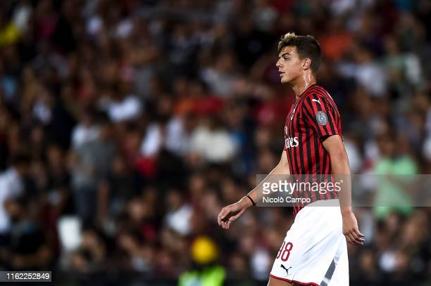 Daniel Maldini of AC Milan looks on during the preseason friendly football match between Cesena FC and AC Milan The match ended in a 00 tie