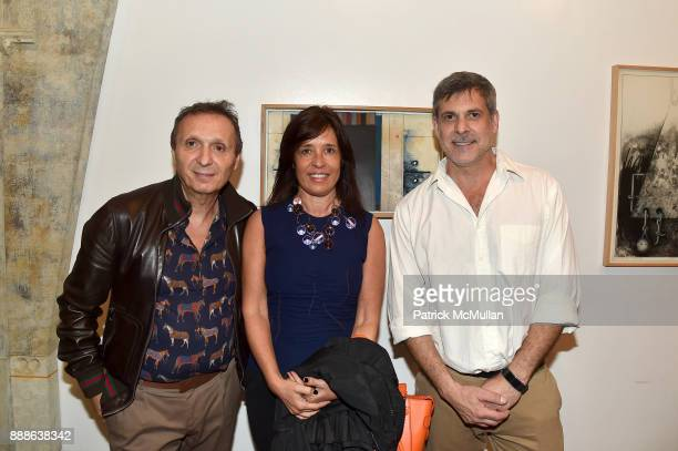 Daniel Maman Patricia Maman and Gustavo Bonevardi attend the Marcelo Bonevardi / The Miami Rail Celebration at Miami Design District on December 8...