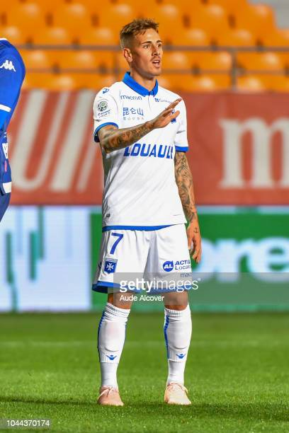 Daniel Mancini of Auxerre during the French Ligue 2 match between Troyes and Auxerre at Stade de l'Aube on October 1 2018 in Troyes France