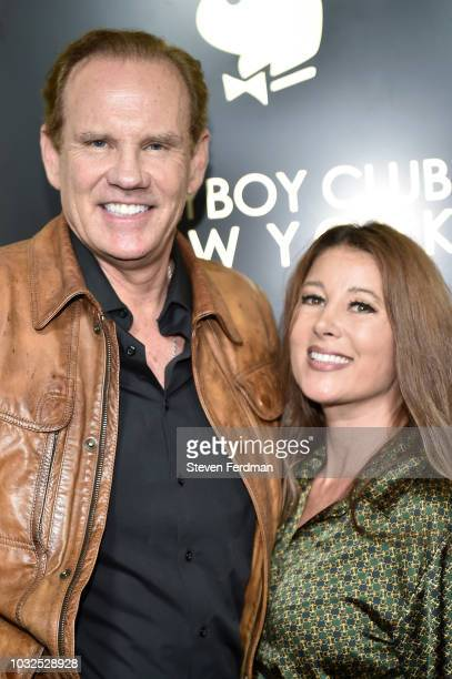 Daniel Marshall and Brandy Marshall arrive at Playboy Club New York Grand Opening on September 12 2018 in New York City
