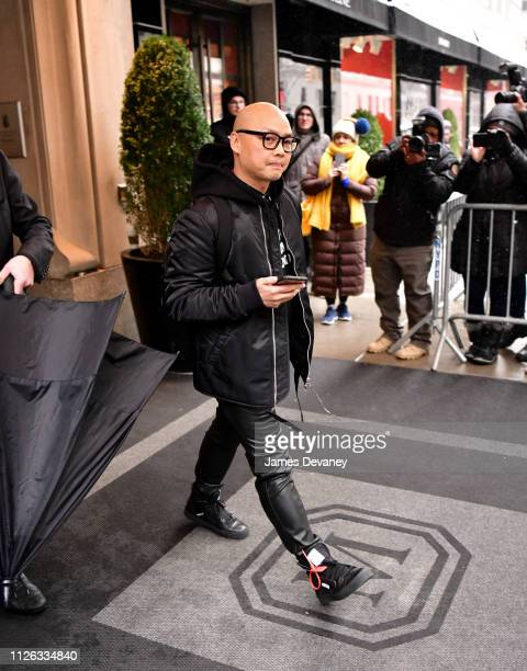 Daniel Martin leaves The Mark Hotel after attending Meghan Duchess of Sussex's baby shower on February 20 2019 in New York City