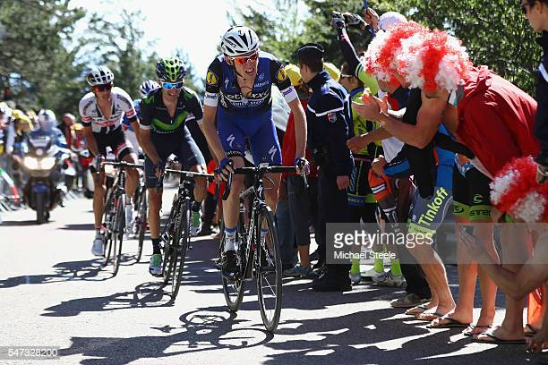 Daniel Martin of Ireland and Etixx QuickStep on the climb to Mont Ventoux during the 12th stage of Le Tour de France from Montpellier to Mont Ventoux...