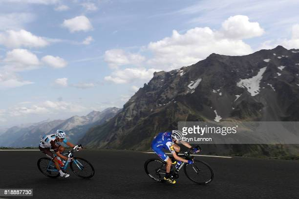 Daniel Martin of Ireland and Quick Step Floors descends the Col du Galibier on stage seventeen of the 2017 Tour de France a 183km road stage from La...