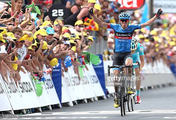 Daniel Martin of Ireland and Team GarminSharp wins Stage Nine of the Tour de France 2013 the 100th Tour de France a 1685KM road stage between...