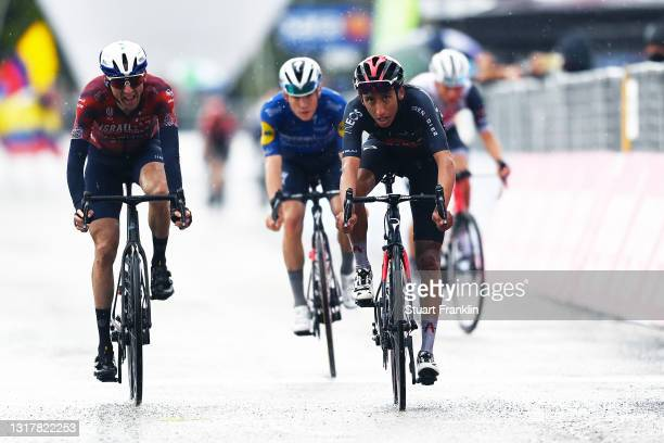 Daniel Martin of Ireland and Team Israel Start-Up Nation & Egan Arley Bernal Gomez of Colombia and Team INEOS Grenadiers at arrival during the 104th...
