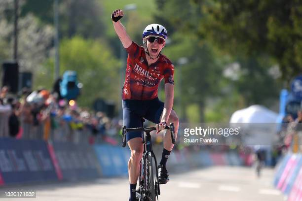 Daniel Martin of Ireland and Team Israel Start-Up Nation stage winner celebrates at arrival during the 104th Giro d'Italia 2021, Stage 17 a 193km...