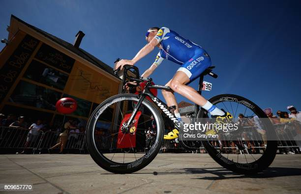 Daniel Martin of Ireland and team QuickStep Floors during stage six of the 2017 Le Tour de France a 216km road stage from Troyes to to Vesoul on July...
