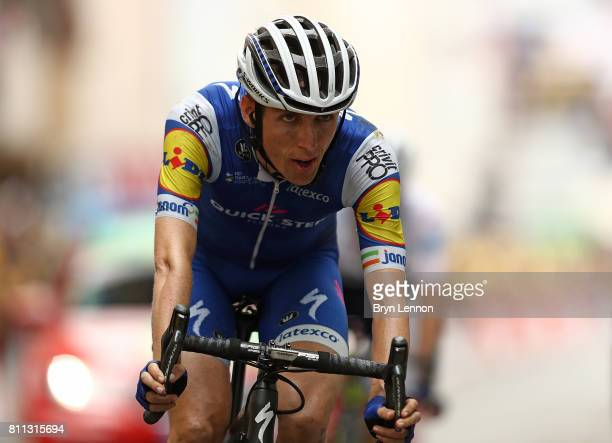 Daniel Martin of Ireland and team QuickStep Floors in action during stage nine of Le Tour de France 2017 a 182km stage between Nantua and Chambery on...