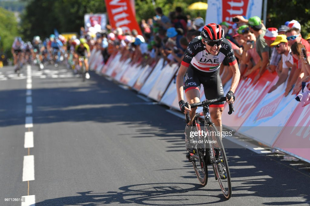 Daniel Martin of Ireland and UAE Team Emirates / during 105th Tour de France 2018, Stage 6 a 181km stage from Brest to Mur-de-Bretagne Guerledan 293m / TDF / on July 12, 2018 in Mur-de-Bretagne Guerledan, France.