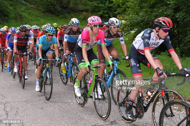 Daniel Martin of Ireland and UAE Team Emirates / Pierre Rolland of France and Team EF Education First Drapac P/B Cannondale / Tony Gallopin of France...