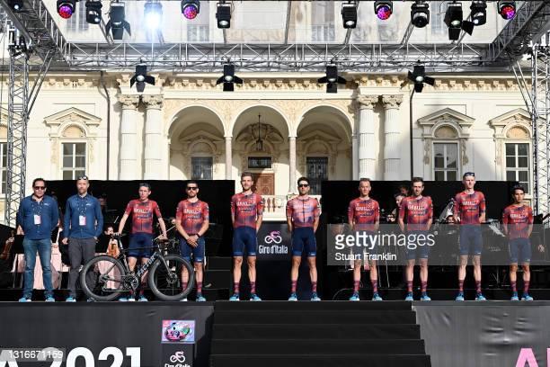 Daniel Martin of Ireland, Patrick Bevin of New Zealand, Matthias Brandle of Austria, Davide Cimolai of Italy, Alessandro De Marchi of Italy, Alex...