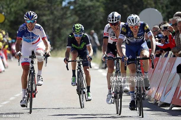 Daniel Martin of Ireland riding for Etixx-Quick Step crosses the finish line during stage twelve, a 178km stage from Monpellier to Chalet-Reynard...