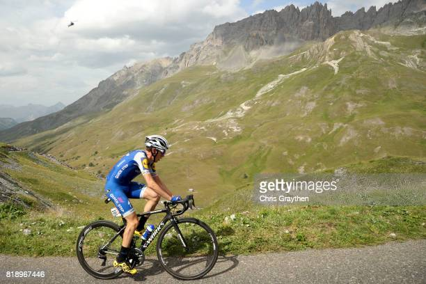 Daniel Martin of Ireland riding for QuickStep Floors climbs the col du galibier during stage 17 of the 2017 Le Tour de France a 183km stage from La...