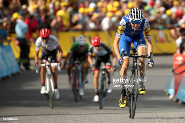 Daniel Martin of Ireland riding for QuickStep Floors crosses the finish line during stage 17 of the 2017 Le Tour de France a 183km stage from La Mure...