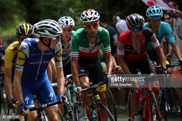 Daniel Martin of Ireland riding for QuickStep Floors Richie Porte of Australia riding for BMC Racing Team Fabio Aru of Italy riding for Astana Pro...
