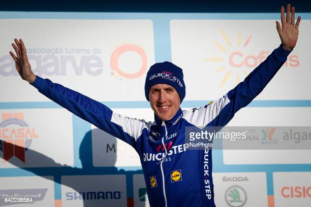 Daniel Martin of QuickStep Floors wins the 2nd stage of the cycling Tour of Algarve between Lagoa and Alto do Foia on February 15 2017...