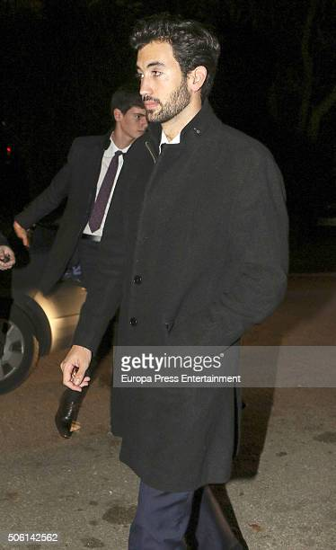 Daniel Martinez Bordiu attends the wedding of Cynthia Rossi and Benjamin Rouget on December 18, 2015 in Paris, France.