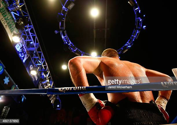 Daniel Martz fights during the junior heavyweight title against Alexis Santos at the House of Blues on June 5, 2014 in Boston, Massachusetts.