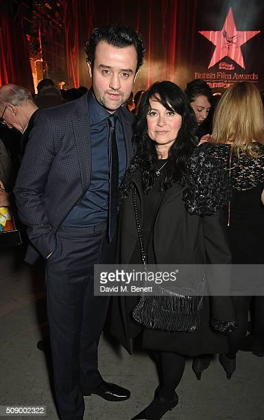 Daniel Mays and Louise Burton attend a champagne reception at the London Evening Standard British Film Awards at Television Centre on February 7 2016...