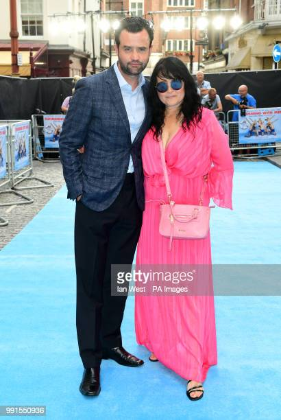 Daniel Mays and Louise Burton attending the Swimming with Men premiere held at Curzon Mayfair London