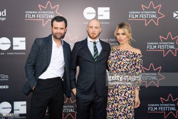Daniel Mays Tom Beard and Billie Piper attend a photocall for the World Premiere of 'Two for joy' during the 72nd Edinburgh International Film...