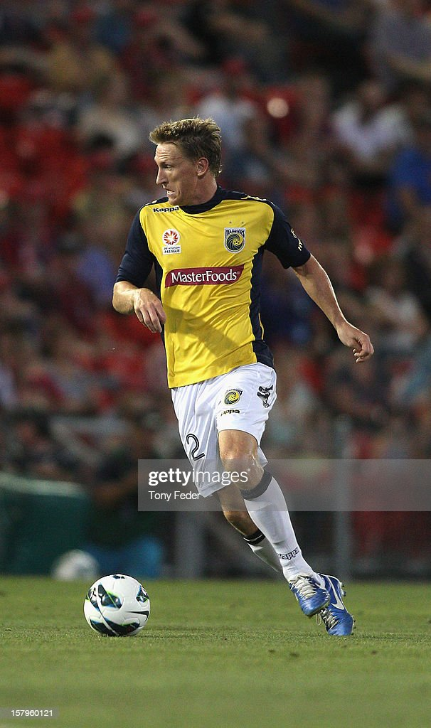 Daniel McBreen of the Mariners controls the ball during the round ten A-League match between the Newcastle Jets and the Central Coast Mariners at Hunter Stadium on December 8, 2012 in Newcastle, Australia.